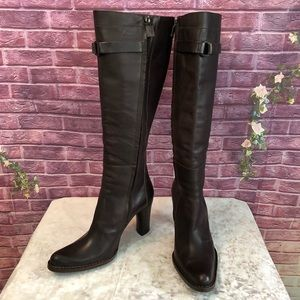 Costume National Dark Brown Tall Leather Boots